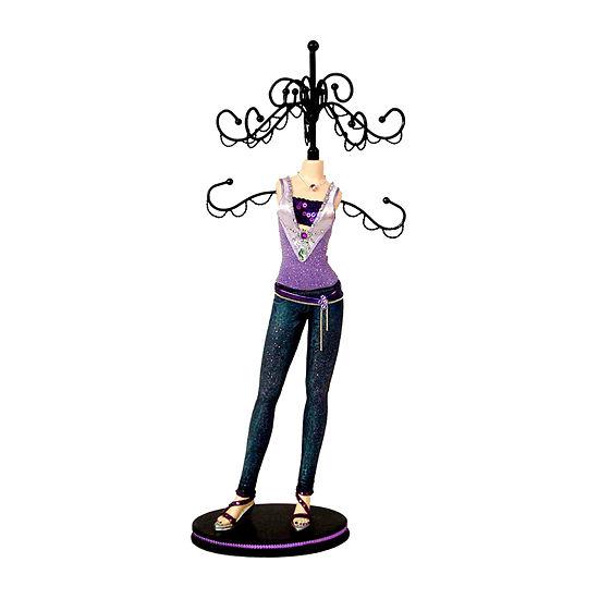 Purple Top Mannequin Jewelry Tree