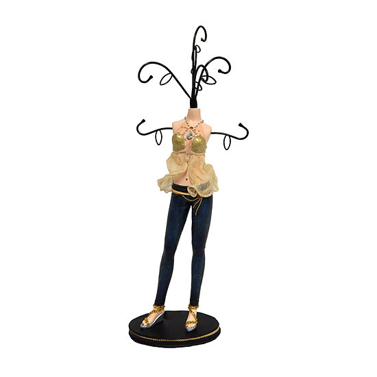 Gold Top Mannequin Jewelry Tree