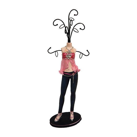 Pink Mannequin Jewelry Tree