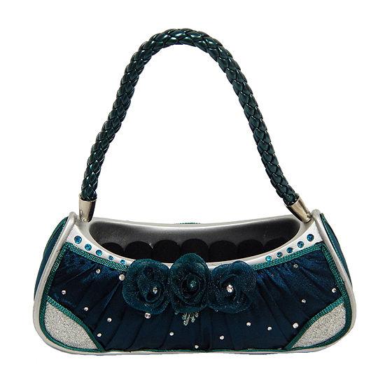 Green Elegant Rose Handbag Ring Holder