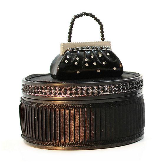 Black Dazzling Gems Jewelry Box