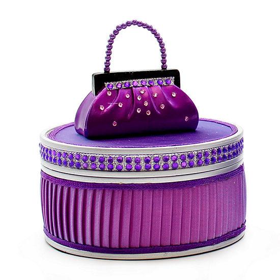 Purple Purse Dazzling Gems Jewelry Box