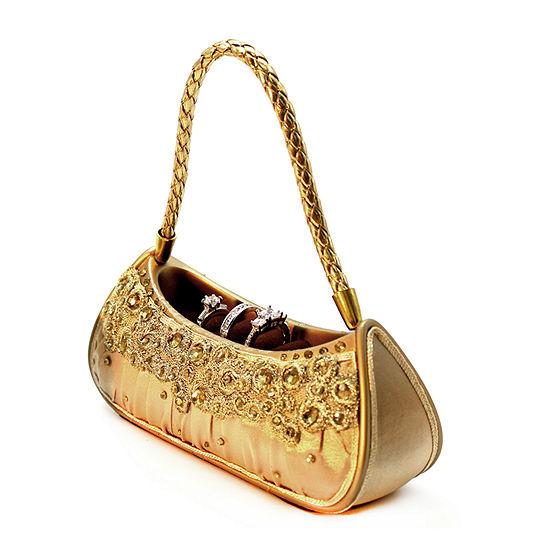 Gold Dazzling Gems Handbag Jewelry Box