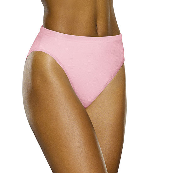 Fruit of the Loom Breathable 5 Pair Knit High Cut Panty 5dpbbh1