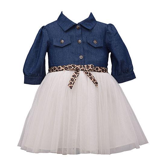 Bonnie Jean Girls Elbow Sleeve A-Line Dress - Baby