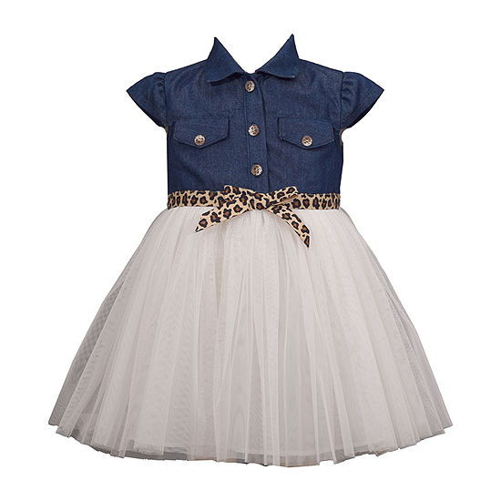 Bonnie Jean Girls Short Sleeve A-Line Dress - Baby