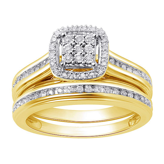 Surrounded by Love Womens 1/5 CT. T.W. Genuine White Diamond Sterling Silver Engagement Ring