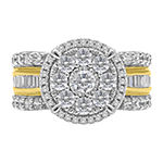 Womens 2 CT. T.W. Genuine White Diamond 10K Gold Engagement Ring