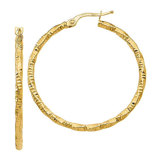 Made in Italy 14K Gold 35mm Hoop Earrings