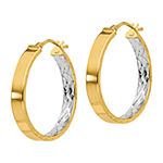 Made in Italy 14K Gold 24.5mm Hoop Earrings