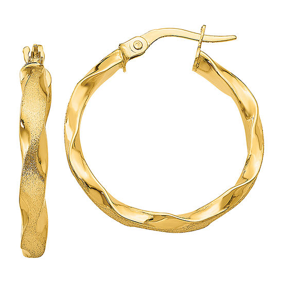 Made in Italy 14K Gold 25mm Hoop Earrings