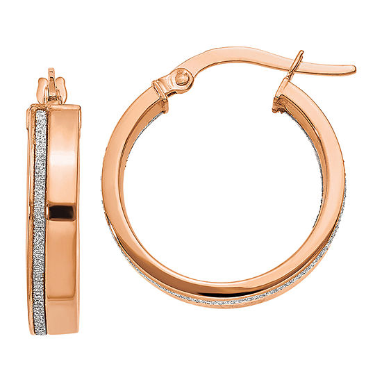 Made In Italy 14k Rose Gold 205mm Hoop Earrings