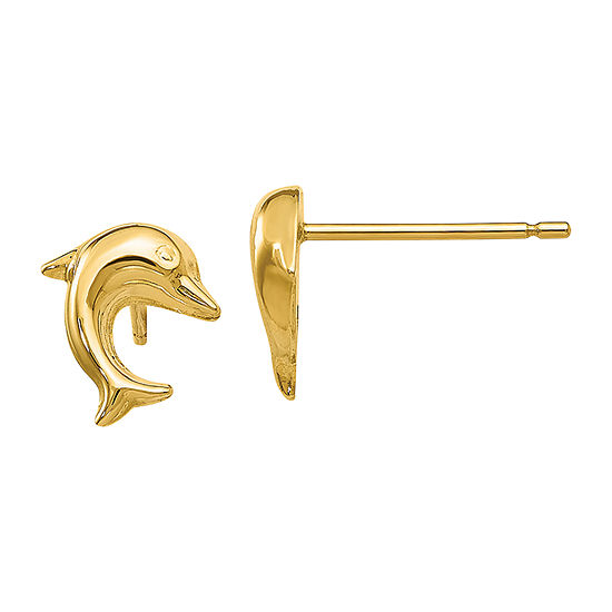 Made in Italy 14K Gold 9mm Stud Earrings