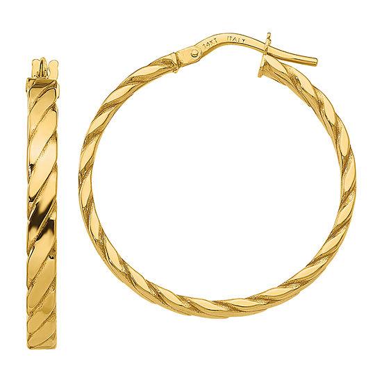 Made in Italy 14K Gold 31mm Hoop Earrings