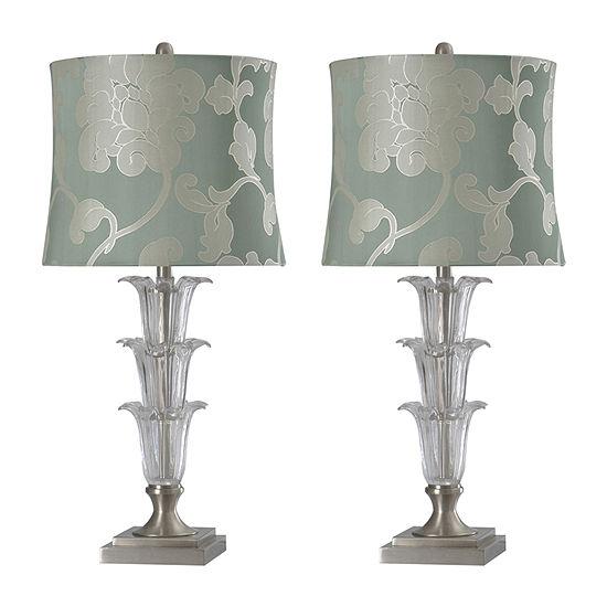Stylecraft Cornelia Set Of 2-pc. Lamp Set