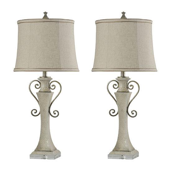 Stylecraft Neihart Set Of 2-pc. Lamp Set