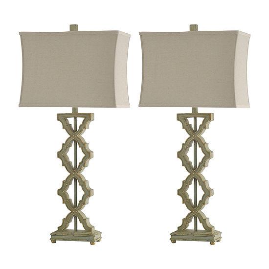 Stylecraft Saray Set Of 2-pc. Lamp Set