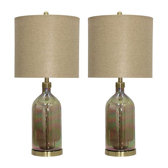 Stylecraft Alanya Set Of 2-pc. Lamp Set