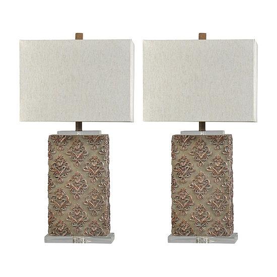 Stylecraft Stowe Set Of 2-pc. Lamp Set