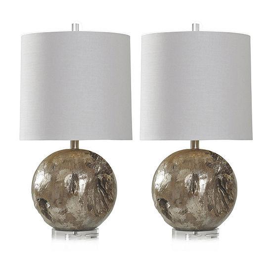 Stylecraft Fossil Set Of 2-pc. Lamp Set
