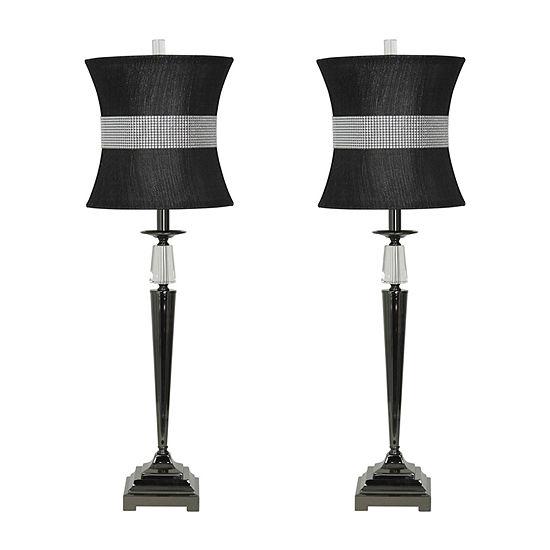 Stylecraft Tuxedo Set Of 2-pc. Lamp Set