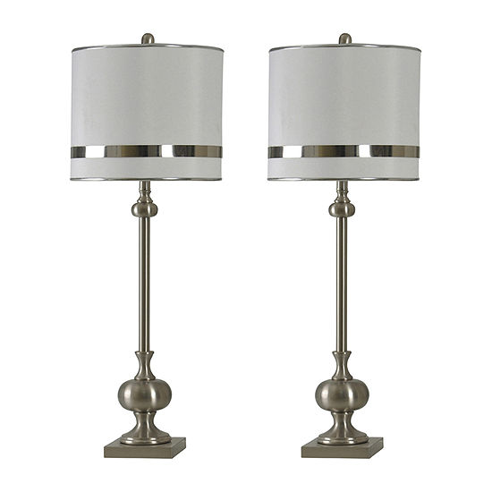 Stylecraft Finesse Set Of 2-pc. Lamp Set