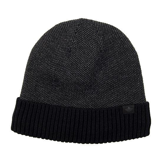Dockers® Micro Check Fleece Lined Cuff Beanie