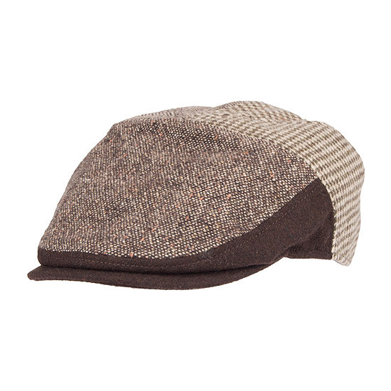 Dockers® Mixed Media Flat Top Ivy Cap with Earflaps