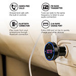 Brookstone Bluetooth Car Adapter FM Transmitter