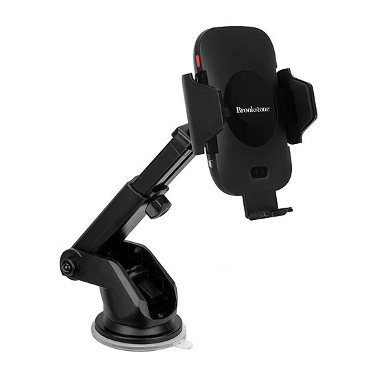 Brookstone Car Mount Kit with Motorized Qi Charging Auto Sensing Phone Cradle