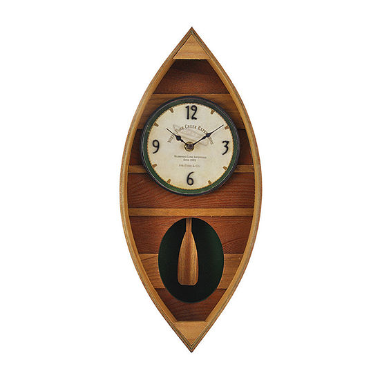 Firstime Wood Canoe Wall Clock