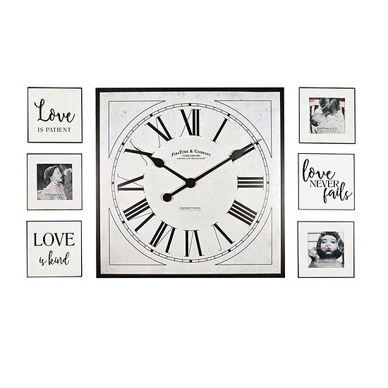 Firstime Love Frame Gallery Wall Clock-00262