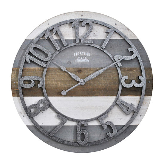 Firstime Shabby Planks Wall Clock-31061