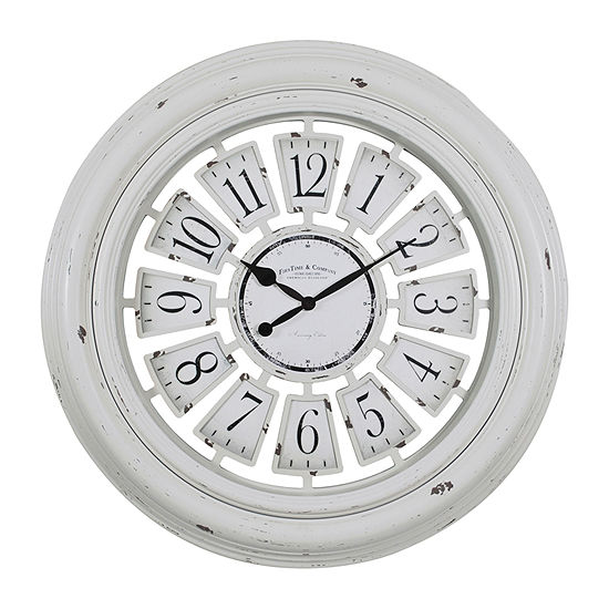 Firstime Farmhouse Plaques Wall Clock-31066