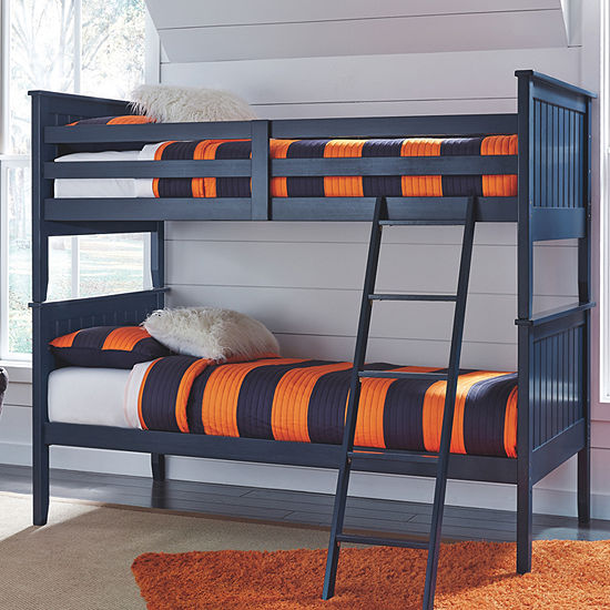 Signature Design By Ashley Leo Twin Over Twin Bunk Beds