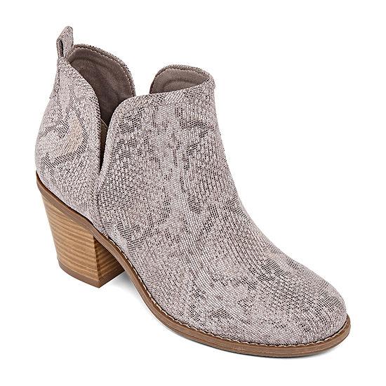 a.n.a Womens Mele Block Heel Slip-on Booties