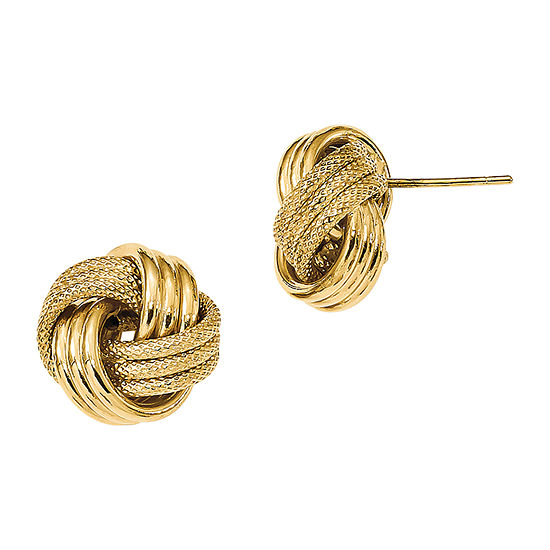 Made in Italy 14K Gold 12.5mm Knot Stud Earrings
