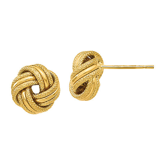 Made in Italy 14K Gold 8mm Knot Stud Earrings