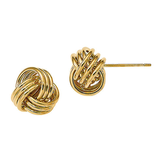 Made in Italy 14K Gold 9mm Knot Stud Earrings