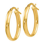 Made in Italy 14K Gold 22mm Oval Hoop Earrings
