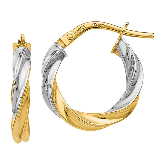 Made in Italy 14K Gold 17mm Hoop Earrings