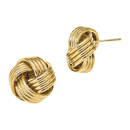 Made in Italy 14K Gold 16mm Knot Stud Earrings