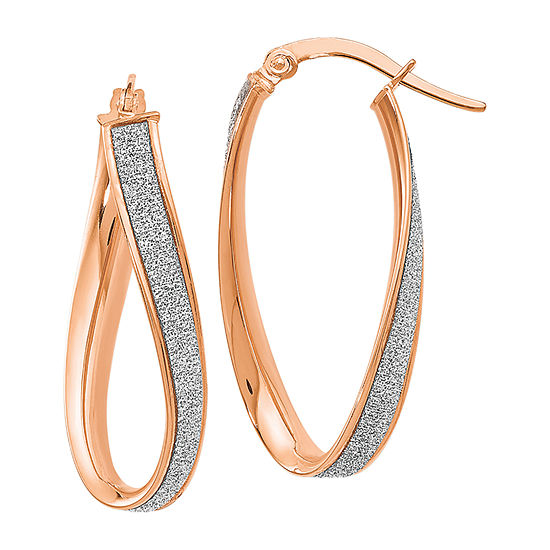 Made in Italy 14K Rose Gold 28mm Hoop Earrings