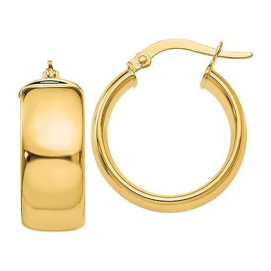 Made in Italy 14K Gold 16mm Hoop Earrings