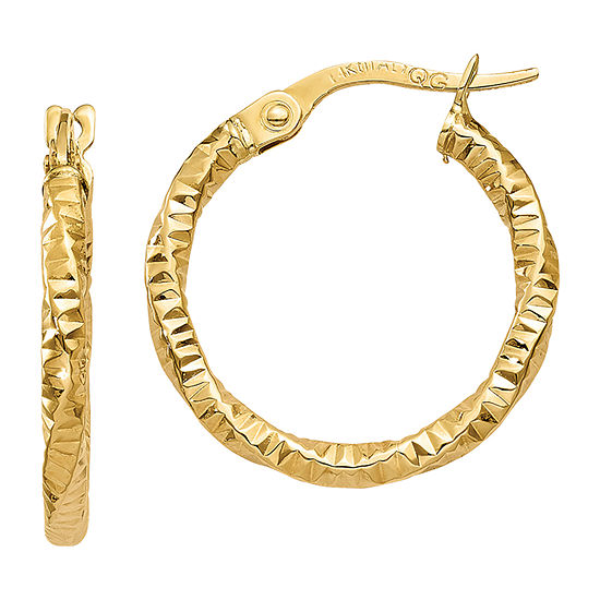 Made In Italy 14k Gold 19mm Hoop Earrings