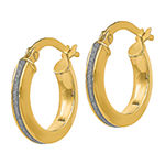 Made in Italy 14K Gold 14mm Hoop Earrings