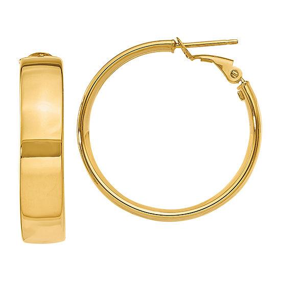 Made in Italy 14K Gold 25mm Hoop Earrings