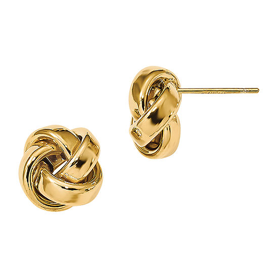 Made in Italy 14K Gold 9.6mm Knot Stud Earrings