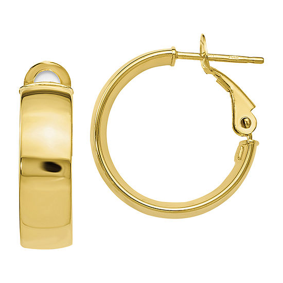 Made in Italy 10K Gold 18mm Hoop Earrings