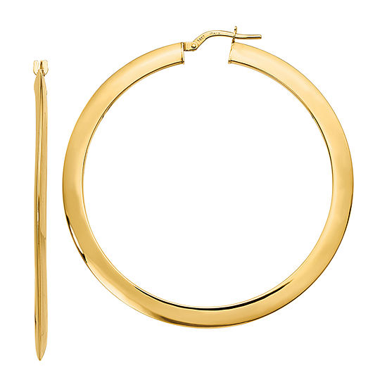Made in Italy 14K Gold 55mm Hoop Earrings